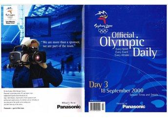 SYDNEY 2000 OFFICAL OLYMPIC DAILY - Day 3-5, 7, 8 - Sävedalen - SYDNEY 2000 OFFICAL OLYMPIC DAILY - Day 3-5, 7, 8 - Sävedalen