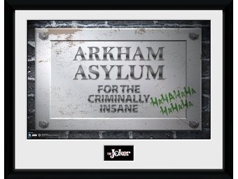 Tavla - DC Comics - Batman Arkham Asylum Sign