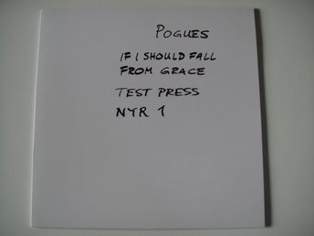 POGUES If i should fall from grace  PROMO TESTPRESS LP RARITET SHANE MacGOWAN