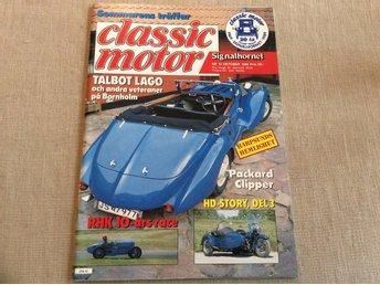 Classic Motor nr 10 1989 HD story,Talbot Lago,Packard Clippers,Harley 1000 cc