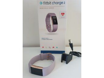 Sprillans Ny Fitbit Charge 2 Limited Edition Lavender Rose Large