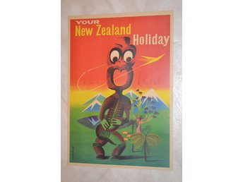 Your New Zealand Holiday Ursprungsbefolkning Resa Poster Affisch 30*42cm Ny