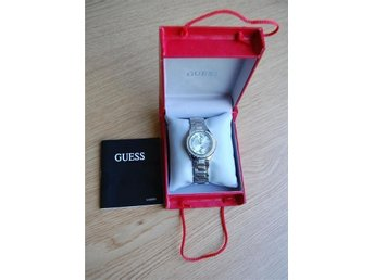 GUESS Silver Tone Rhinestones Watch