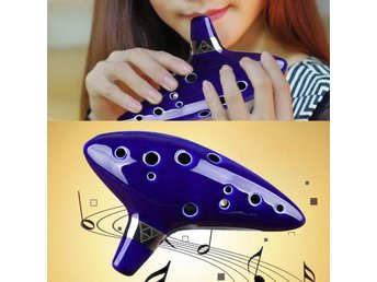 Ny 12 Hole Ocarina Ceramic Alto C Legend of Zelda Ocarina Flute Blue Instrument