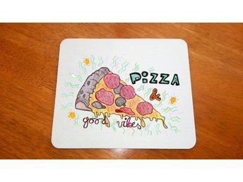 Pizza And Good Vibes Mousepad - Novi Zagreb - Pizza And Good Vibes Mousepad - Novi Zagreb