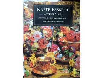 Kaffe Fassett at the V&A. Knitting and needlepoint. Stickning/broderi mönster