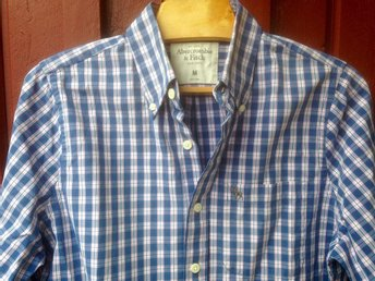 Supersnygg Abercrombie & Fitch skjorta, blå-vit rand, M /39. Nära NYskick! - Gustavsberg - Supersnygg Abercrombie & Fitch skjorta, blå-vit rand, M /39. Nära NYskick! - Gustavsberg