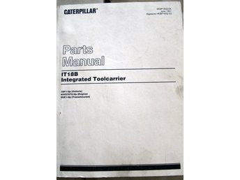 CATERPILLAR PARTS MANUAL IT18B INTERGRATED TOOLCARRIER