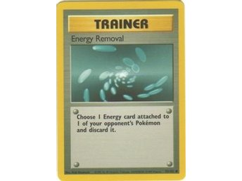 Pokémonkort: Energy Removal 92/102 [Base Set]