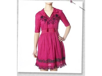 Odd Molly #745 Sigh Dress i Dark pink strl 1