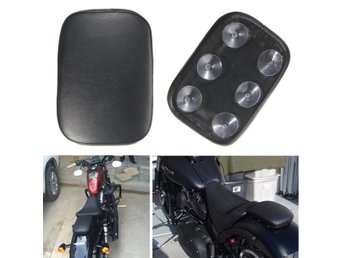 Pillion Pad Seat 6 Suction Cup Black For Harley Dyna Spor...
