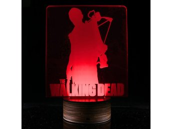 The walking dead  led 3d lampa nattlampa