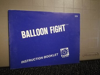 Balloon Fight manual till NES - SCN *OVANLIG*