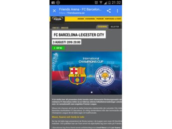 Barcelona - Leicester i International champions Cup