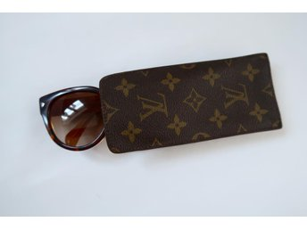 LOUIS VUITTON GLASÖGONFODRAL FODRAL MONOGRAM BRUN CANVAS VINTAGE