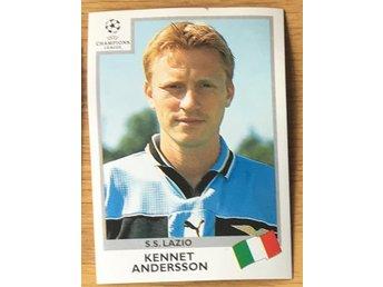 Kennet Andersson, Lazio - Panini Champions League 1999-00 - Nr 17 - Alingsås - Kennet Andersson, Lazio - Panini Champions League 1999-00 - Nr 17 - Alingsås