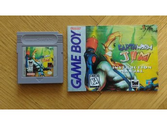 Gameboy: Earthworm Jim (endast kassett + manual, USA)