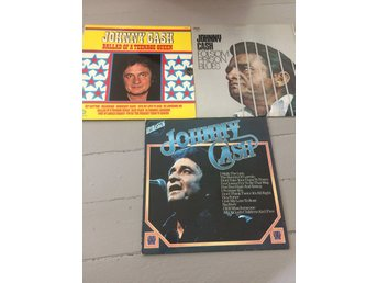Johnny Cash 3 st LP vinyl skivor