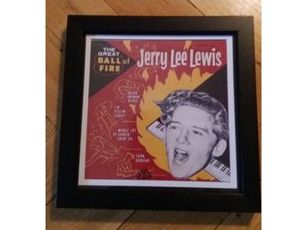 Jerry Lee Lewis, The great ball of fire, inramad repro EP omslag