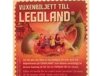 Vuxenbiljett till LEGOLAND - Lyckeby - Vuxenbiljett till LEGOLAND - Lyckeby
