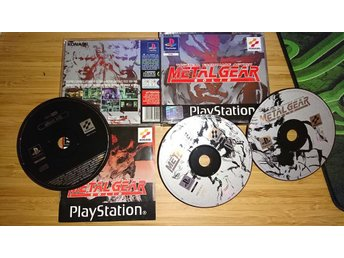 PSX Playstation 1 - Metal Gear Solid - Kanon skick inkl Silent Hill Demot
