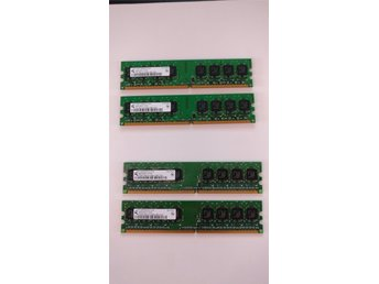 3 GB RAM-MINNE (2x1GB + 2x512MB) DDR2