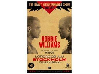 "Robbie Williams ""Golden Circle"" - Främre barrikad - ståplats nära scen! Nr 2 - Nacka - Robbie Williams ""Golden Circle"" - Främre barrikad - ståplats nära scen! Nr 2 - Nacka"
