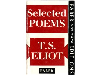 Bok Selected Poems by T S Eliot