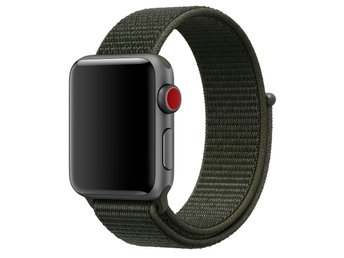 Nylon Loop 38mm Apple Watch Armband - (CARGO KHAKI)