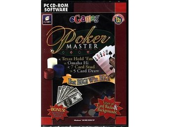 POKER MASTER Texas Hold 'Em / PC spel /NY inplastad <---- JULKLAPP
