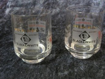 Whisky glas 2 st. Black & White