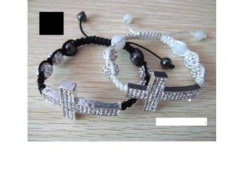 Nytt! Makramé armband med kors, SVART - Göteborg - Nytt! Makramé armband med kors, SVART - Göteborg