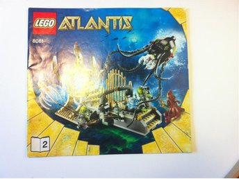 LEGO MANUAL TILL ATLANTIS SET 8061 GATEWAY OF THE SQUID 2/2 - Stockholm - LEGO MANUAL TILL ATLANTIS SET 8061 GATEWAY OF THE SQUID 2/2 - Stockholm