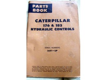CATERPILLAR 176&183 HYDRALIC CONTROLS PUBLISERAD 196+5