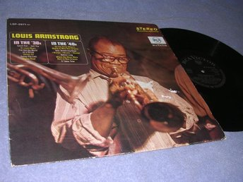 Louis Armstrong In the 30's & 40's (LP) Ty 60s stereo NM/VG+