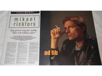 MIKAEL RICKFORS 2-Sidor Bild/Text TIDNINGSARTIKEL 1985 - öckerö - MIKAEL RICKFORS 2-Sidor Bild/Text TIDNINGSARTIKEL 1985 - öckerö
