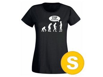 T-shirt Stop Following Me Svart Dam tshirt S