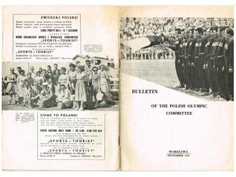 BULLETIN OF THE POLISH OLYMPIC COMMITTEE Number 2, 1957