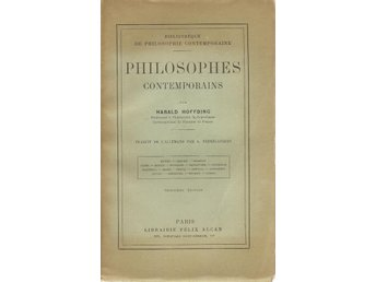 H. Höffding. Philosophes contemporains.