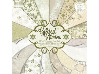 Scrapbooking papper 30 x 30 - First Edition - Gilded Winter - 16 ark