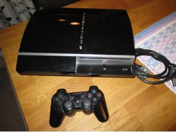 Playstation 3 (PS3) med 1 handkontroll (CECHL04) 80 Gb HDD