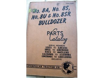 CATERPILLAR BULLDOZER PARTS CATALOG