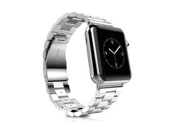 Xincuco Apple Watch 42mm rostfritt stål klockarmband med vik