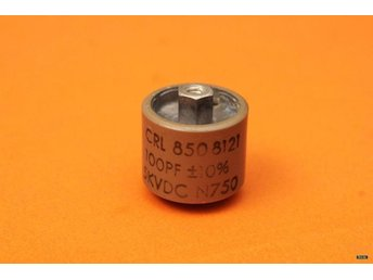 CERAMIC DOORKNOB TRANSMITTING CAPACITOR - CRL 850 - 100pF - 10% - 5KV - N750