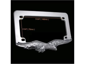 Universal 3D Eagle Hawk License Plate Frame.
