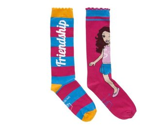 LEGO WEAR, FRIENDS KNÄSTRUMPOR, 2-PACK, CERISE (33-36)