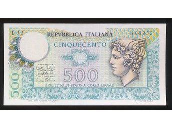 Italy 500 Lira UNC se bild - Västra Frölunda - Italy 500 Lira UNC se bild - Västra Frölunda