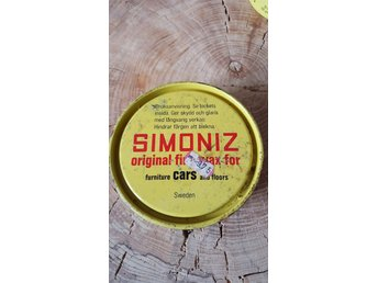 RETRO Burk SIMONIZ Original Fine Wax for cars furniture and floors Bensinmack