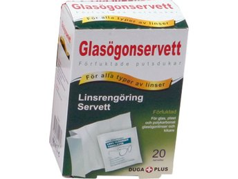 Våtservett Glasögon 120-p glasögonservetter