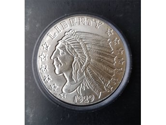 Incuse Indian 1 oz Ag